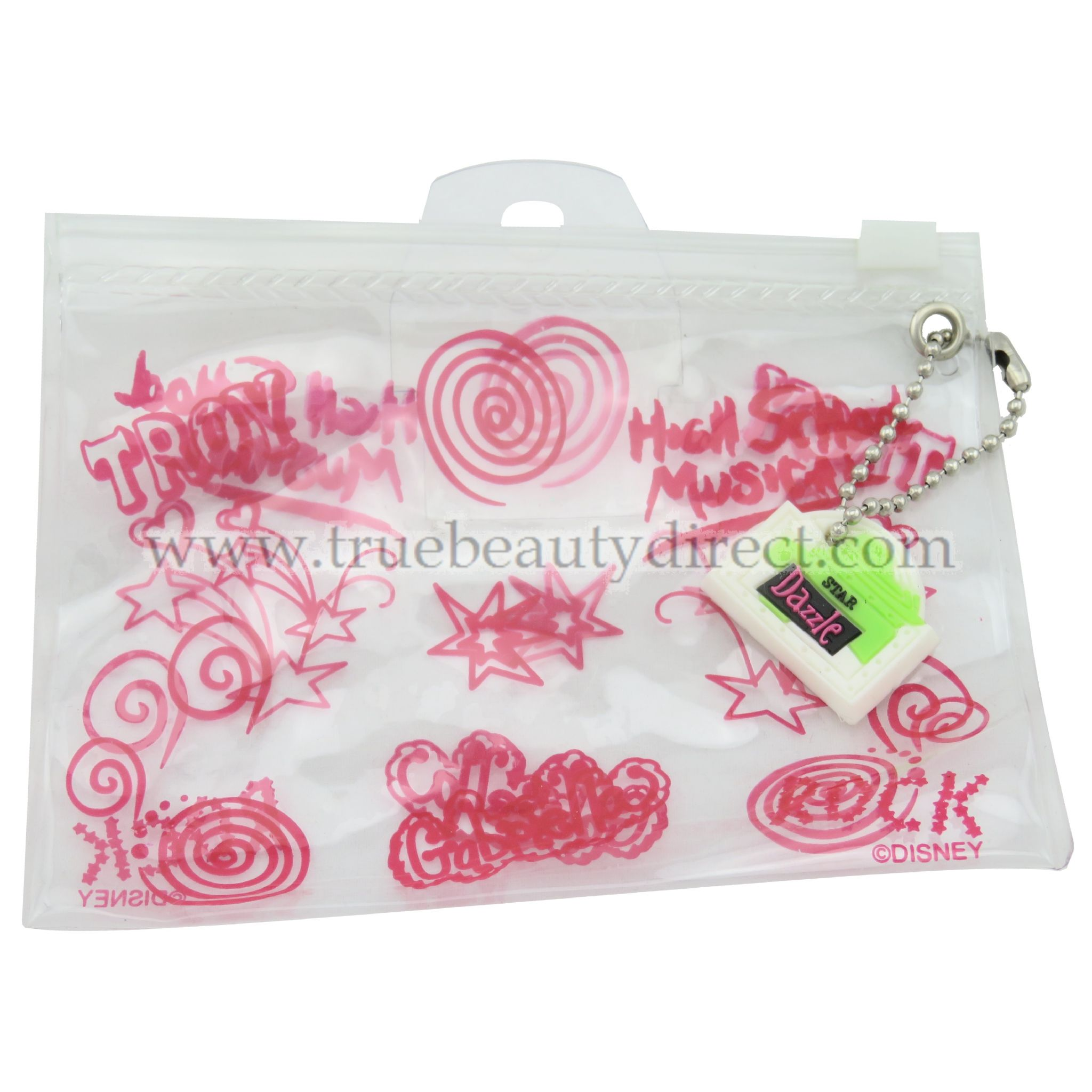 DISNEY HIGH SCHOOL MUSICAL LIPGLOSS SET AND MAKE UP CASE